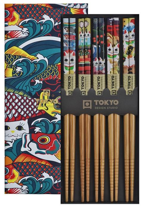 Tokyo Design Studio - Eetstokjes Giftbox - Lucky & Koinobori - 5 stuks