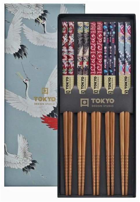Tokyo Design Studio - Eetstokjes Giftbox - Crane - 5 stuks